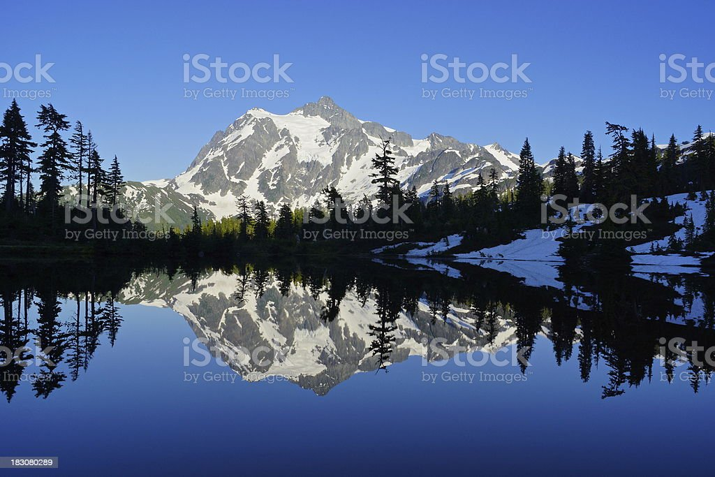 Picture Lake Mirror stock photo