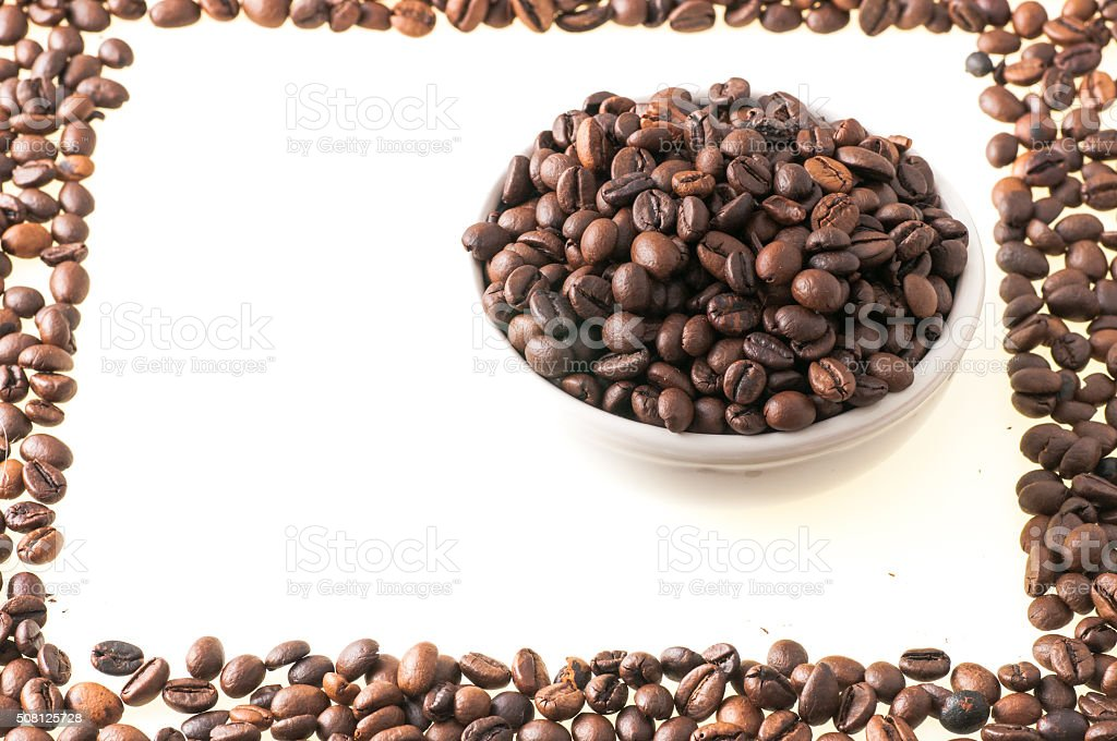 picture made with coffee beans stock photo