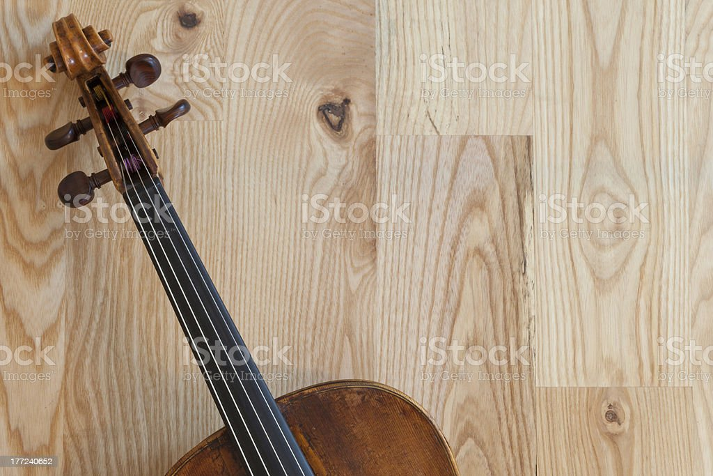Picture of a 200 years old viola, detail stock photo