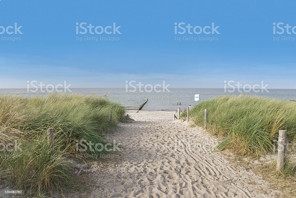 A picture of a beautiful beach stock photo