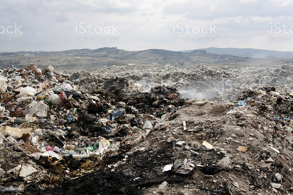 A picture of a big pile of garbage royalty-free stock photo