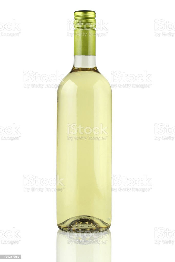 A picture of a bottle of white wine stock photo