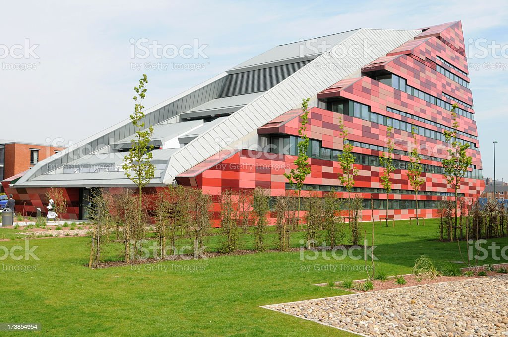 A picture of a building at Nottingham University  stock photo
