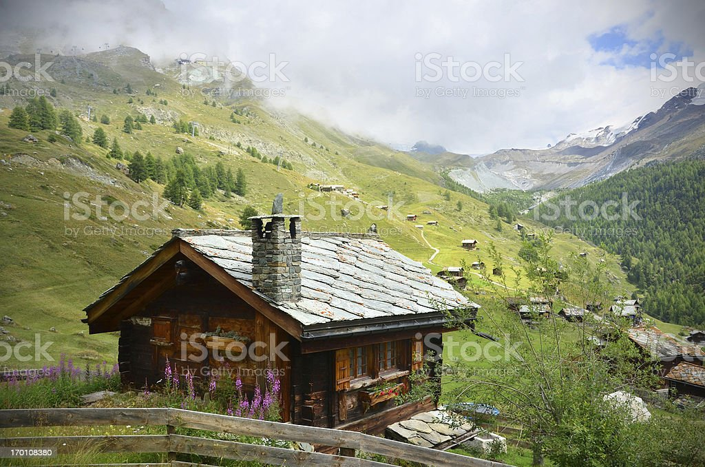 Picture of a chalet near Zermatt, Swaziland stock photo