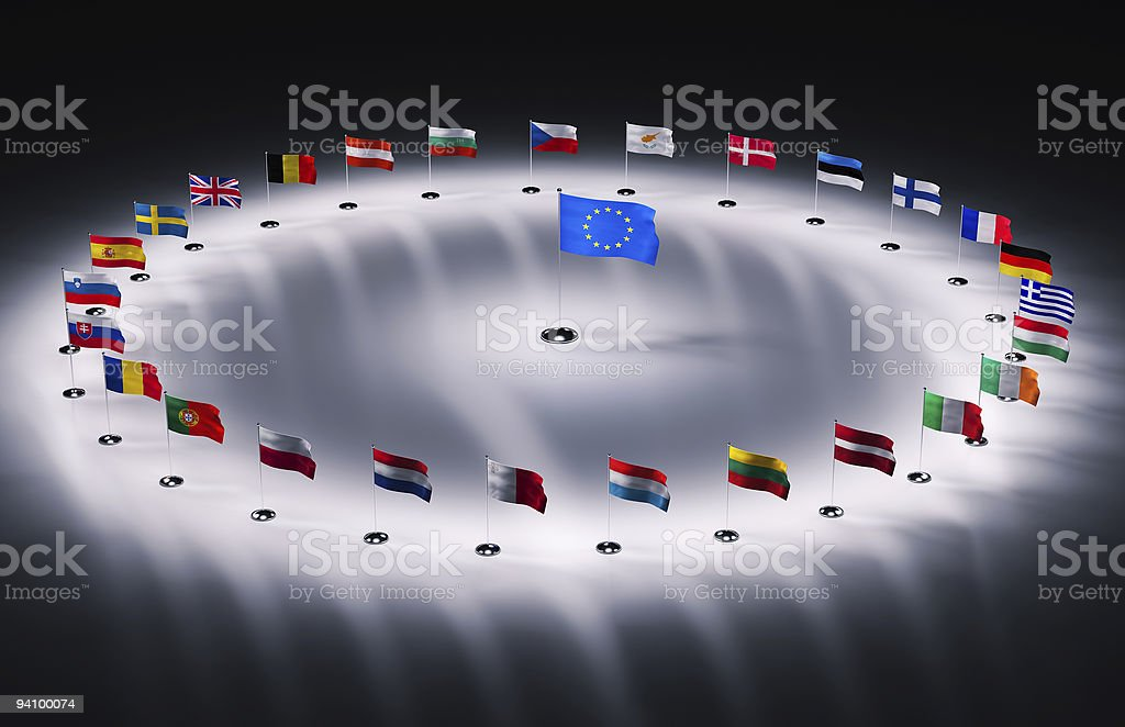 A picture of a circle of flags royalty-free stock photo
