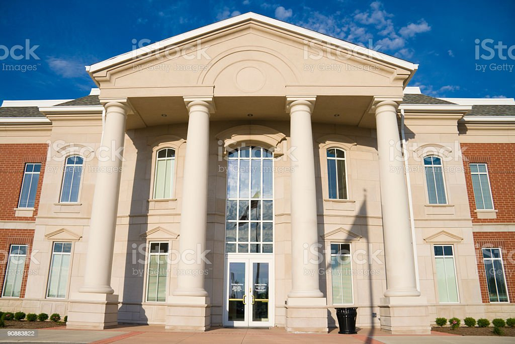 Picture of a city hall building royalty-free stock photo