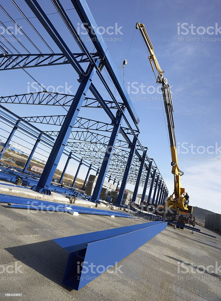 A picture of a construction factory building royalty-free stock photo
