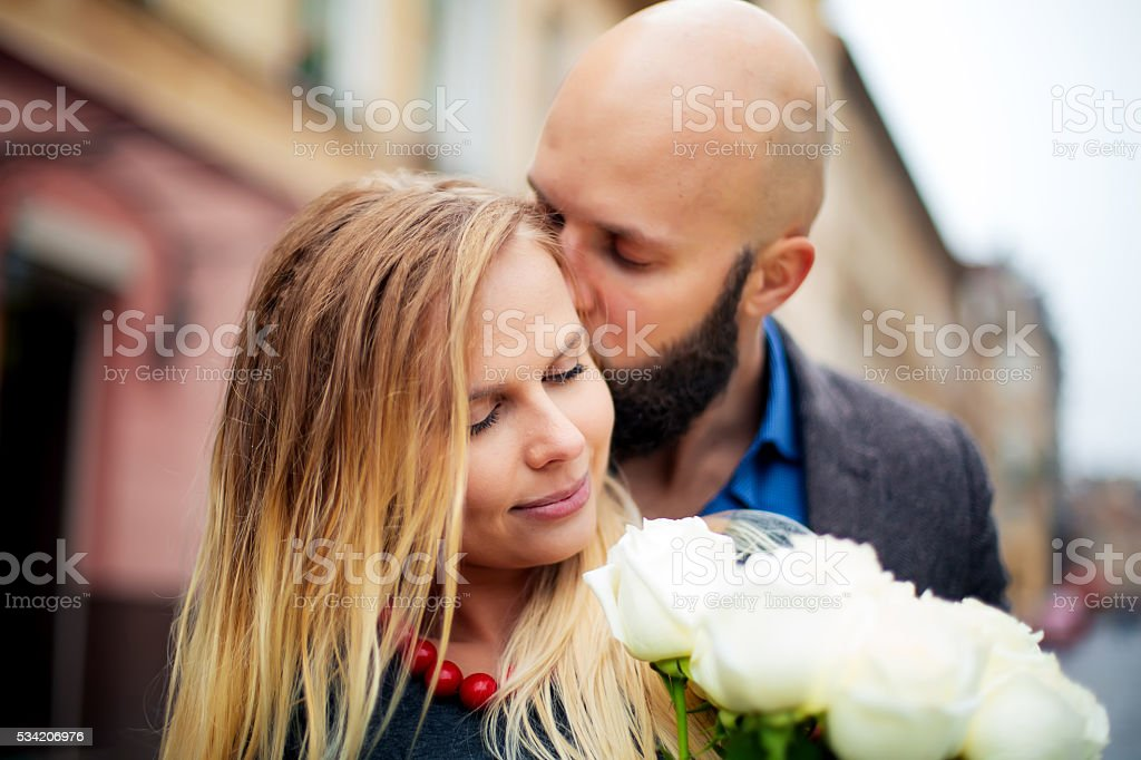 picture of a couple happy on Valentine's Day royalty-free stock photo