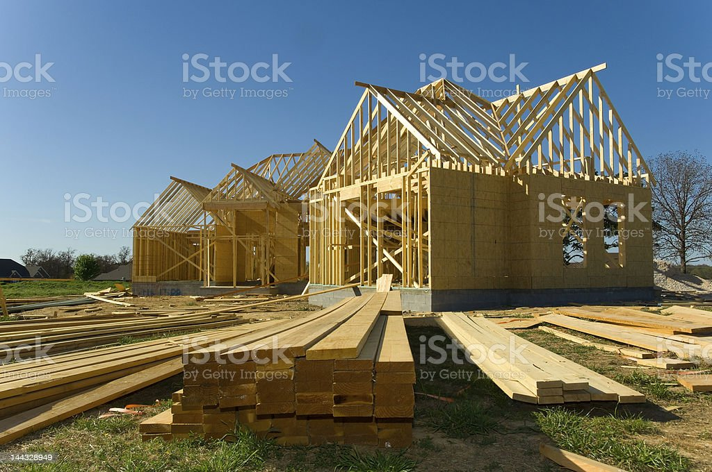 A picture of a house built by the construction industry stock photo