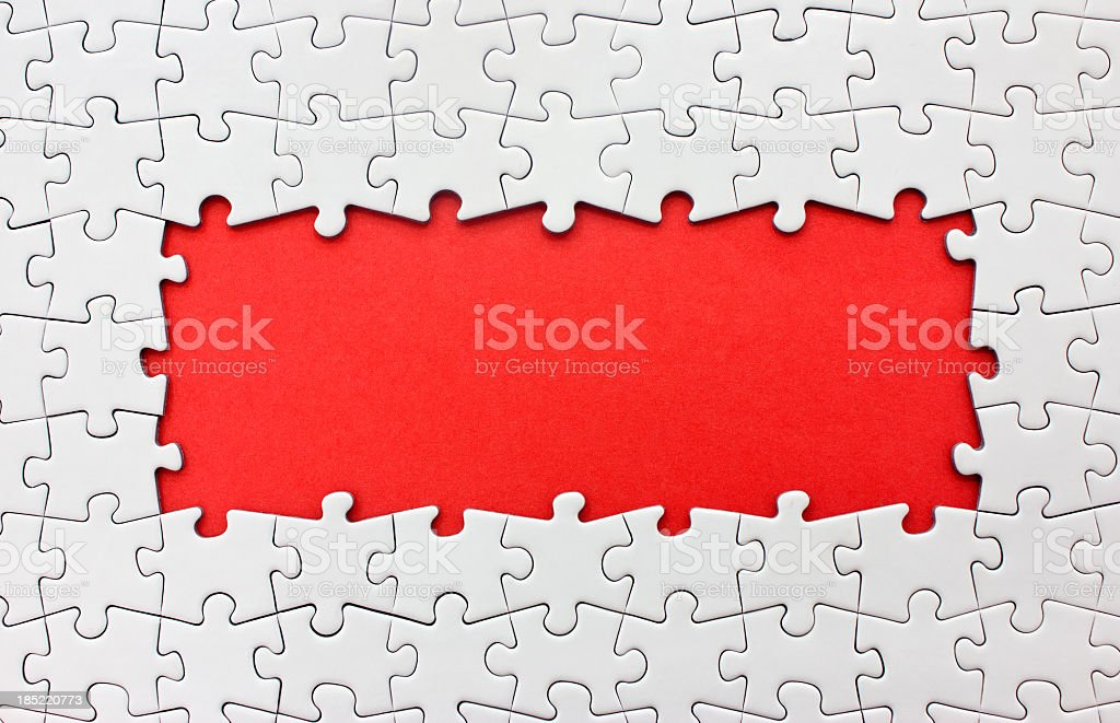 Picture of a Jigsaw puzzle frame stock photo