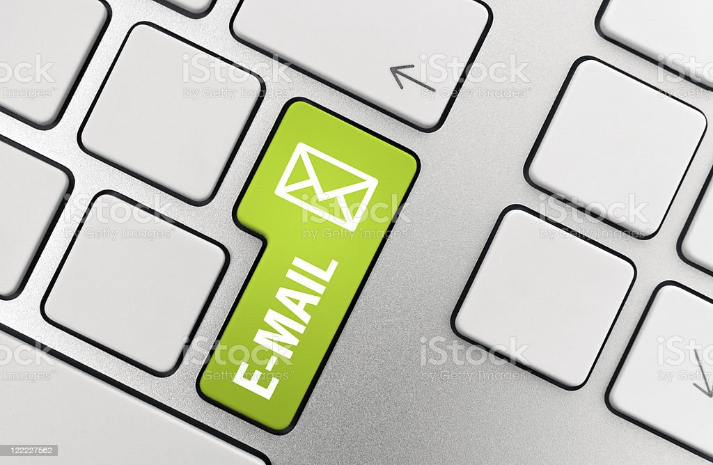 Picture of a keyboard with e-mail button highlighted royalty-free stock photo