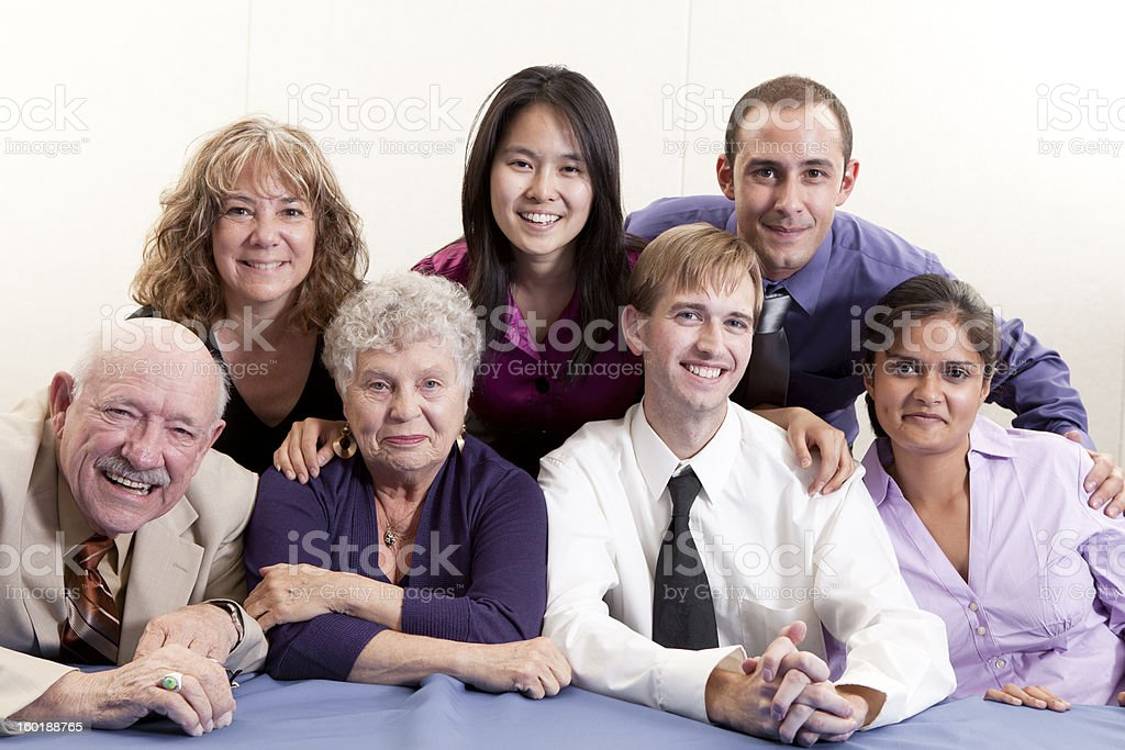 Picture of a large group of people stock photo