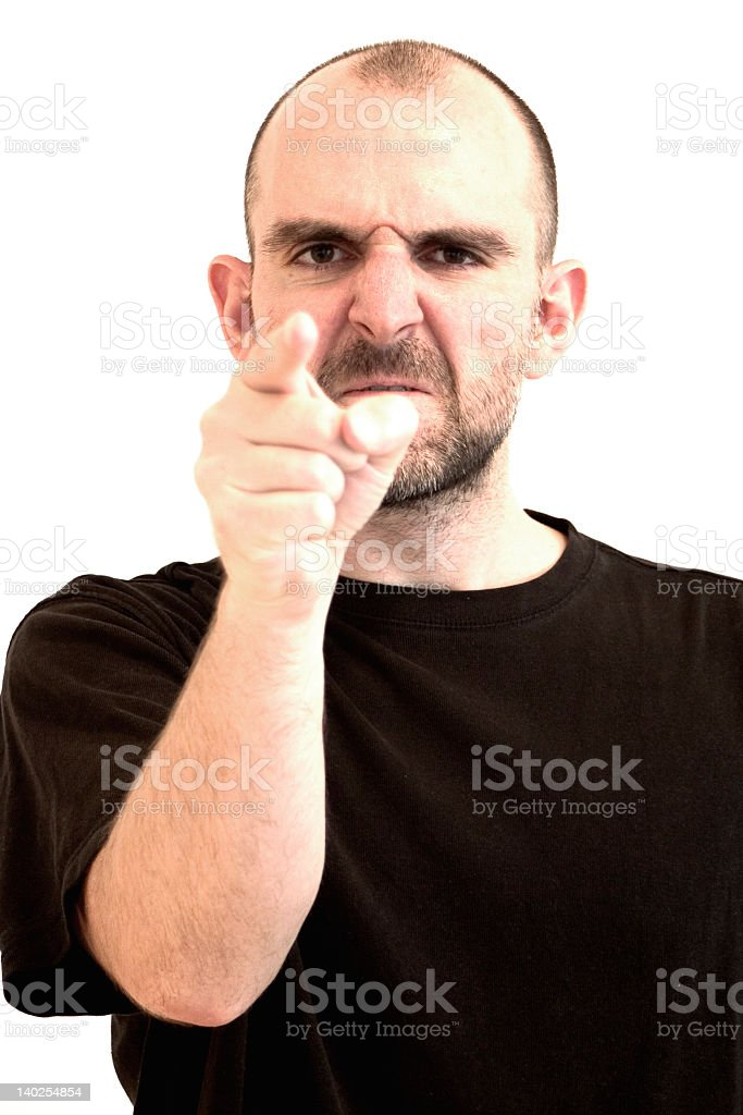 A picture of a man in a black shirt stock photo