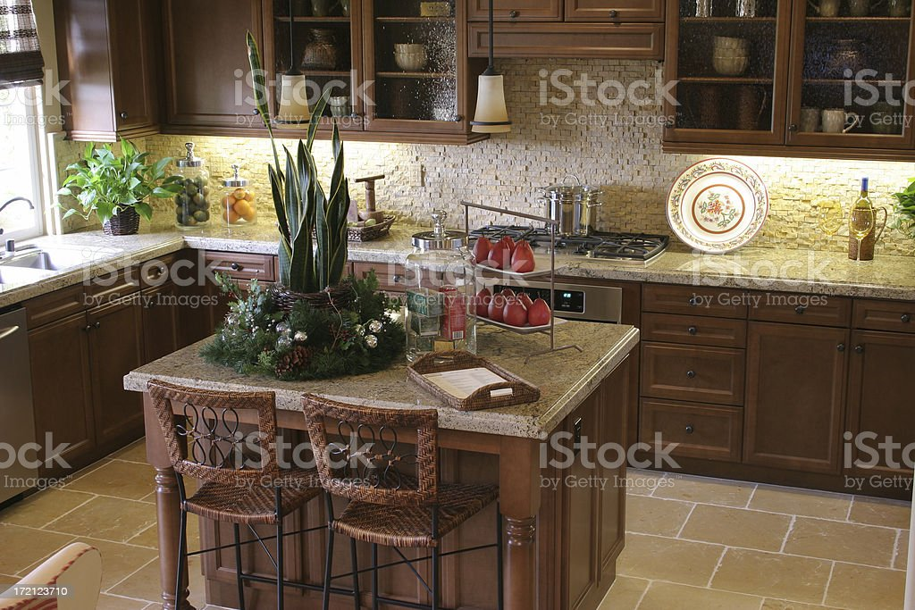 Picture of a modern kitchen royalty-free stock photo