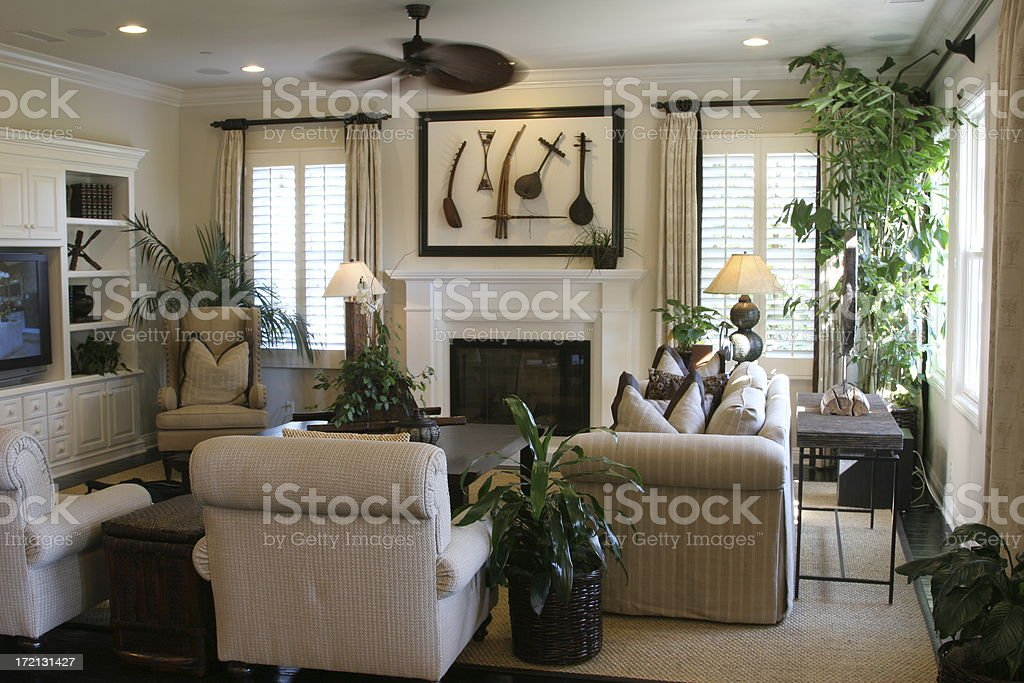 Picture of a modern living room stock photo