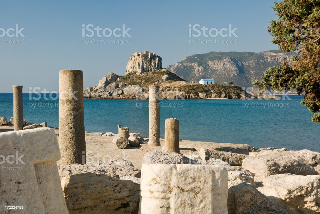 A picture of a place somewhere in Greece stock photo