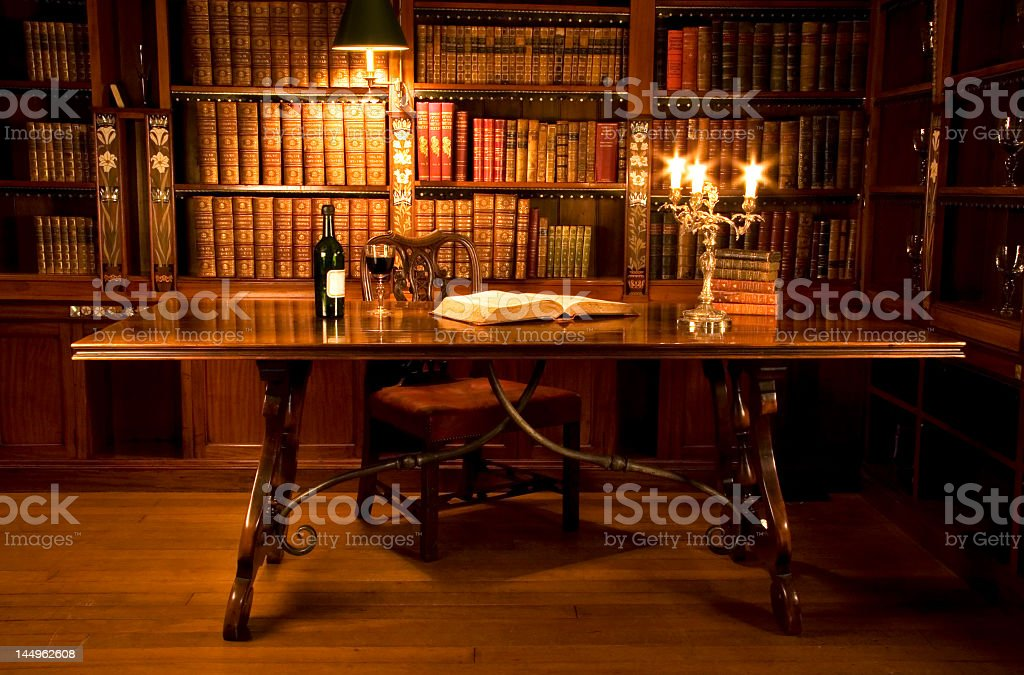 Picture of a reading room or a person's study stock photo