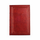 A picture of a red book on a white background