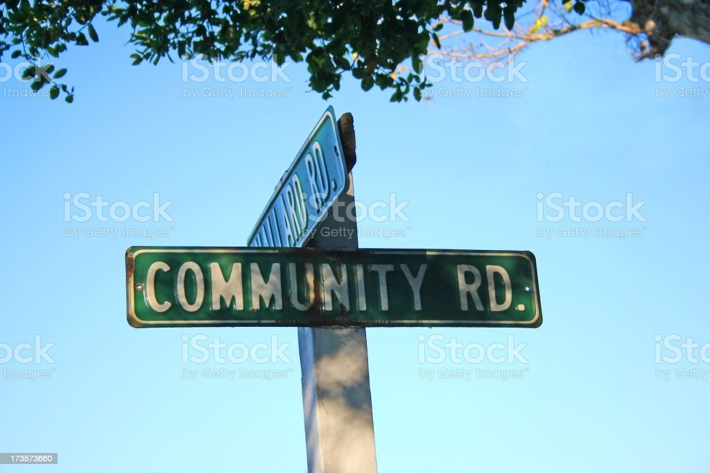 Picture of a road sign for two suburban streets royalty-free stock photo