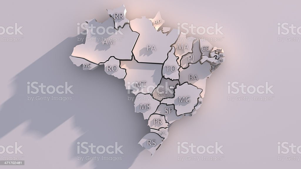 A picture of a sketch of a Brazil map stock photo