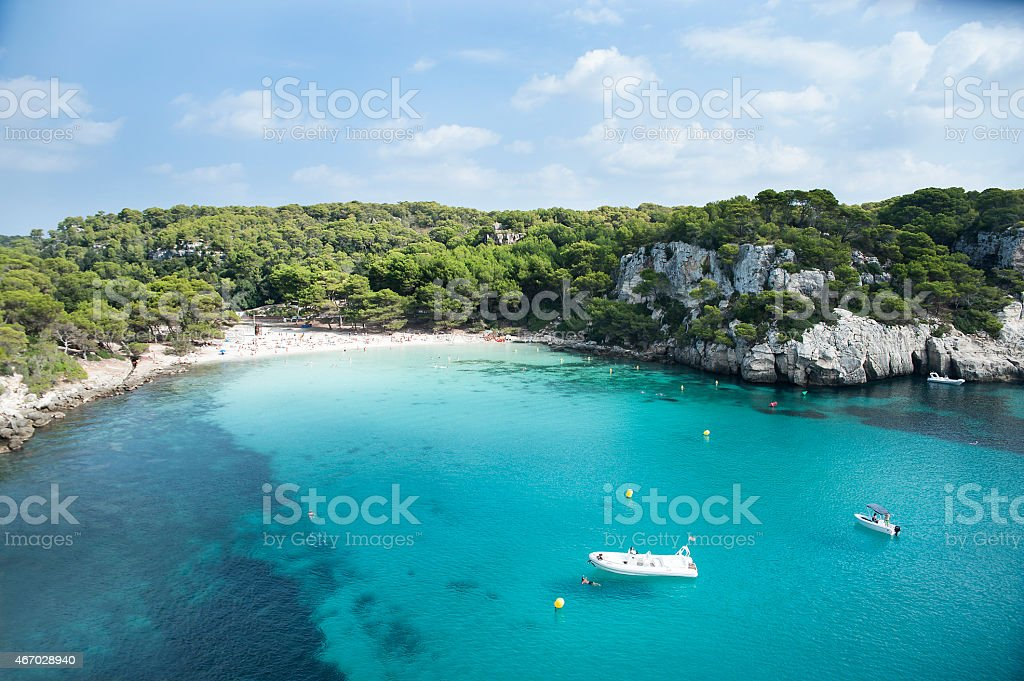 A picture of a small beach at Calamacarela stock photo