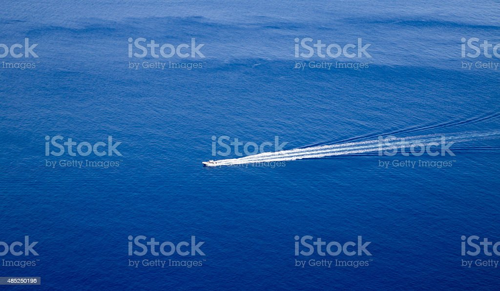 Picture of a speed boat royalty-free stock photo