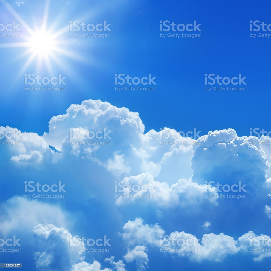 A picture of a sunlight above clouds royalty-free stock photo