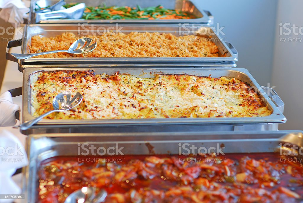 A picture of a table with different foods royalty-free stock photo