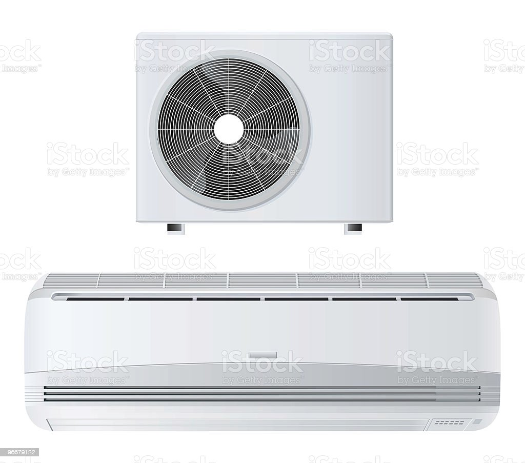 A picture of a white air conditioner royalty-free stock photo