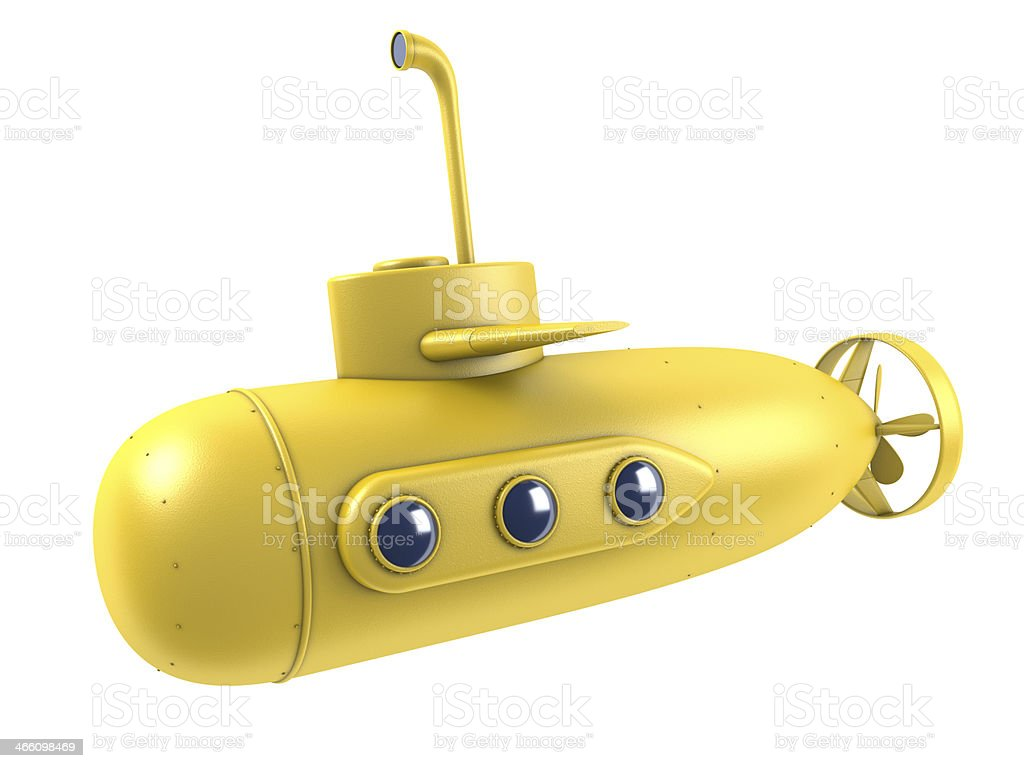A picture of a yellow submarine, associated with the Beatles stock photo