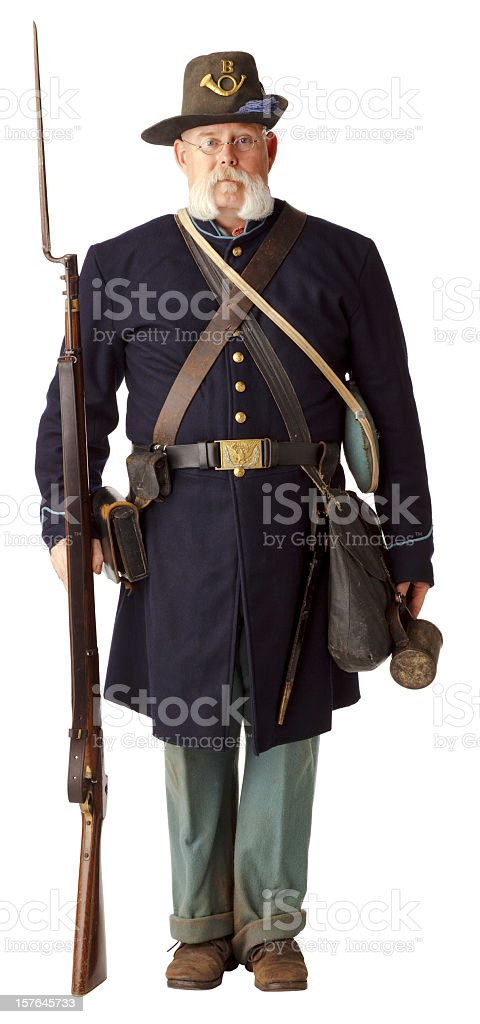 A picture of an American civil war Union soldier stock photo