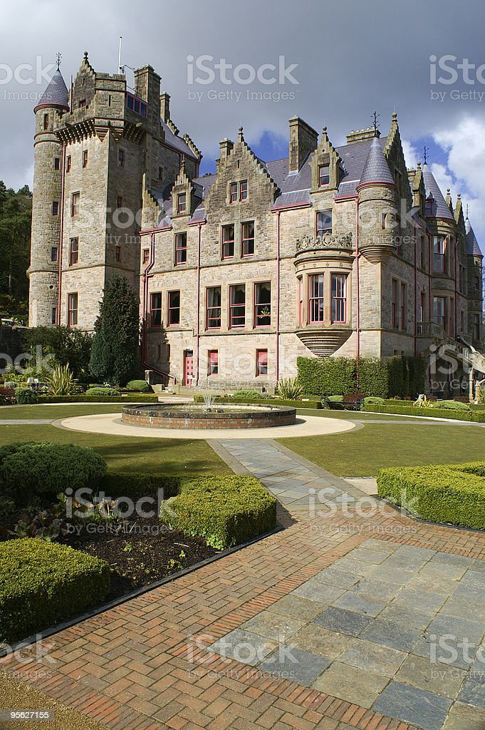 Picture of Belfast Castle in Northern Ireland. royalty-free stock photo