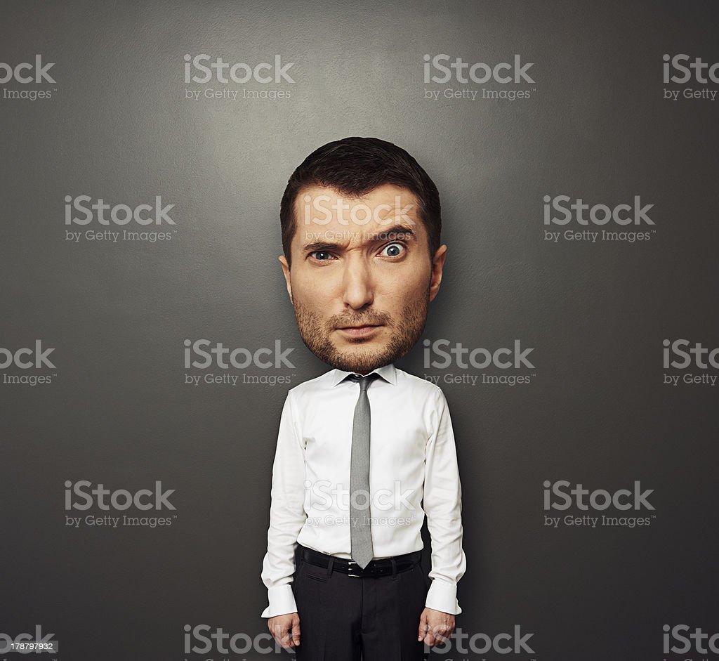 picture of bighead man stock photo