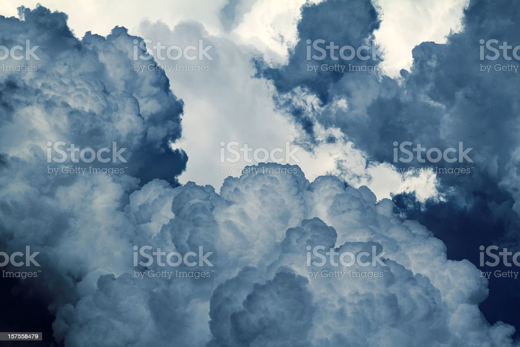 Picture of blue and white clouds royalty-free stock photo