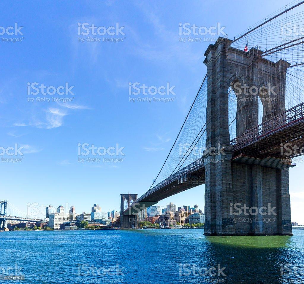 Picture of Brooklyn Bridge stock photo