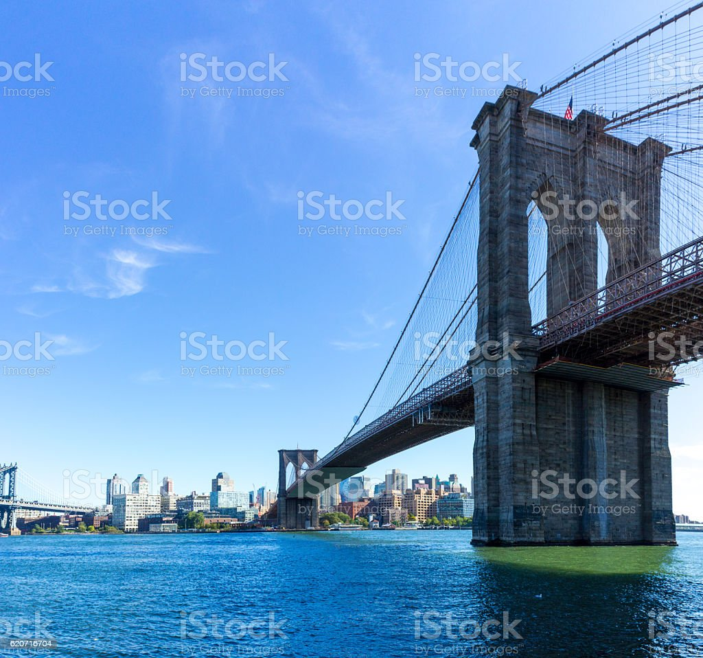 Picture of Brooklyn Bridge stock photo