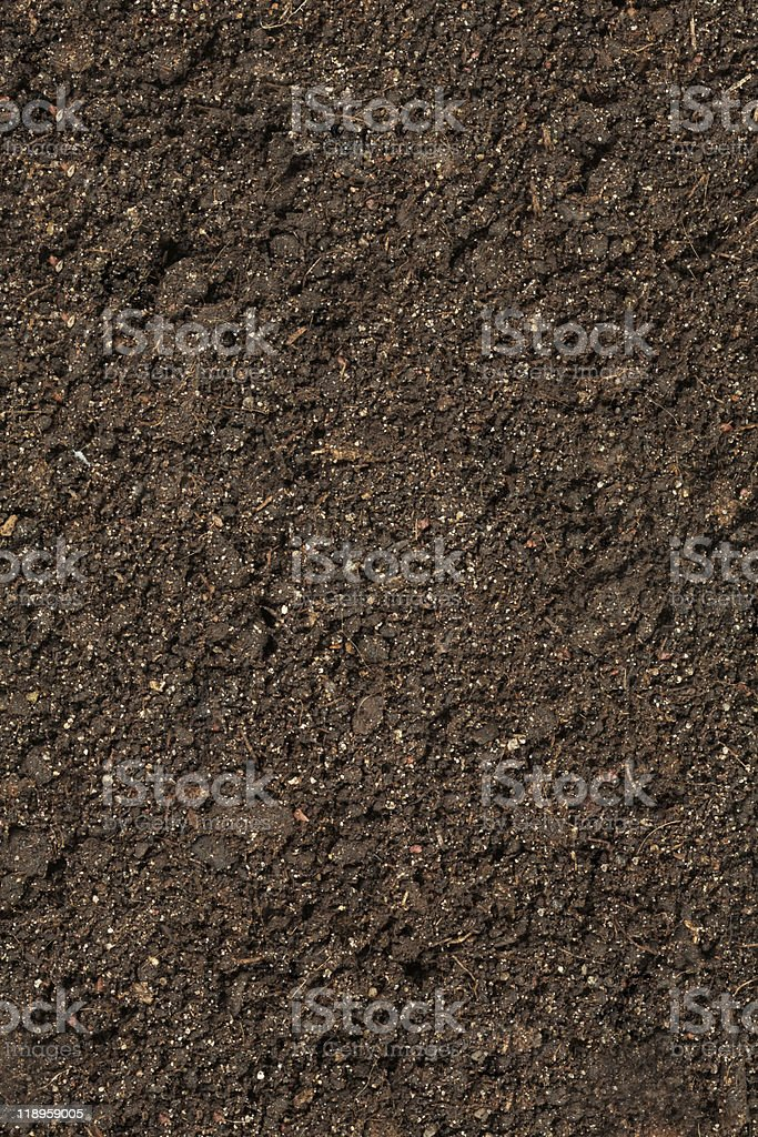 A picture of brown potting soil royalty-free stock photo