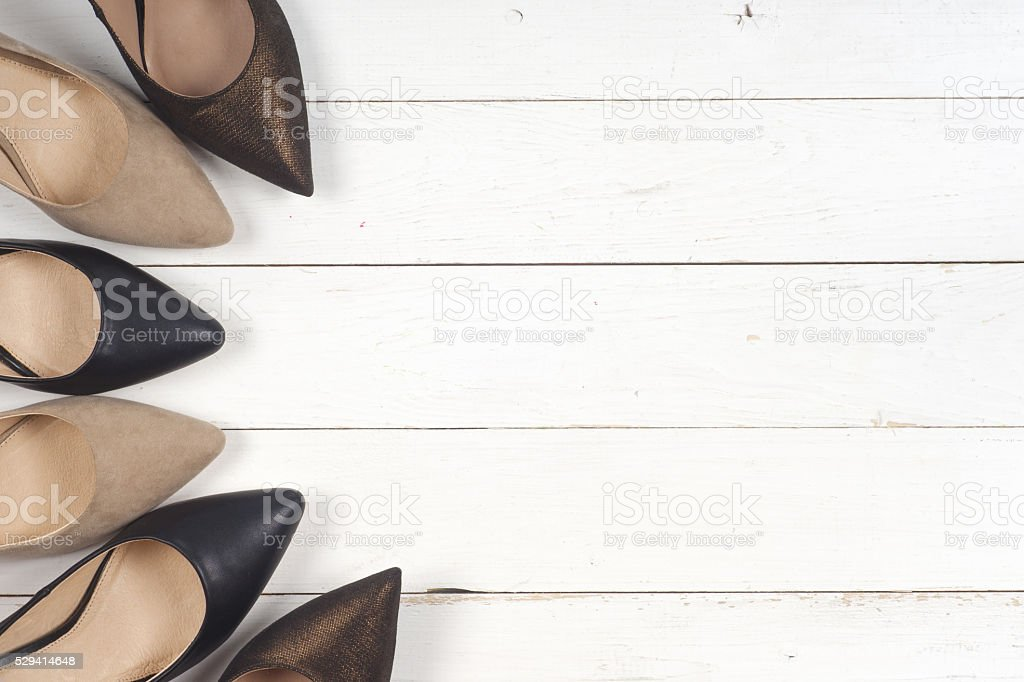 picture of different shoes, Shot of several types of shoes, stock photo