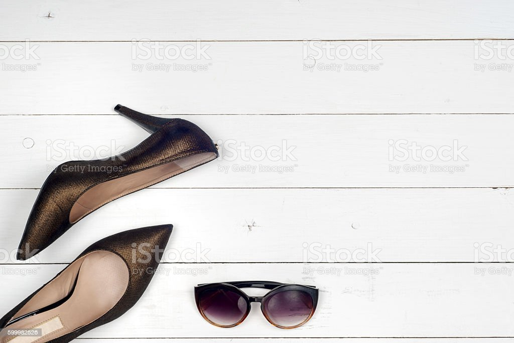 picture of different shoes, Shot of several types of shoes stock photo