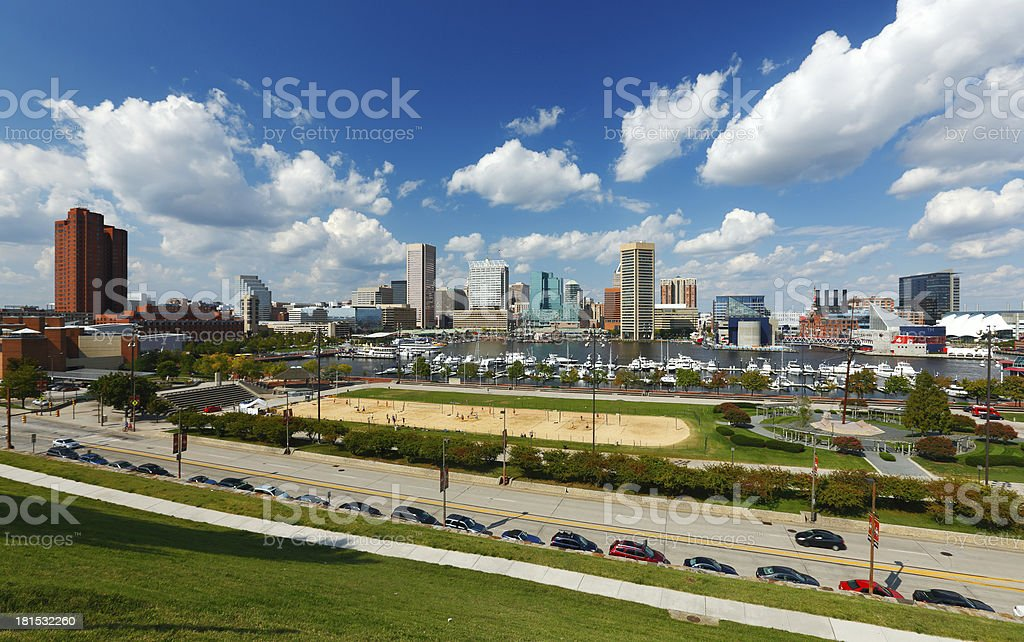 Picture of downtown Baltimore on a clear day royalty-free stock photo