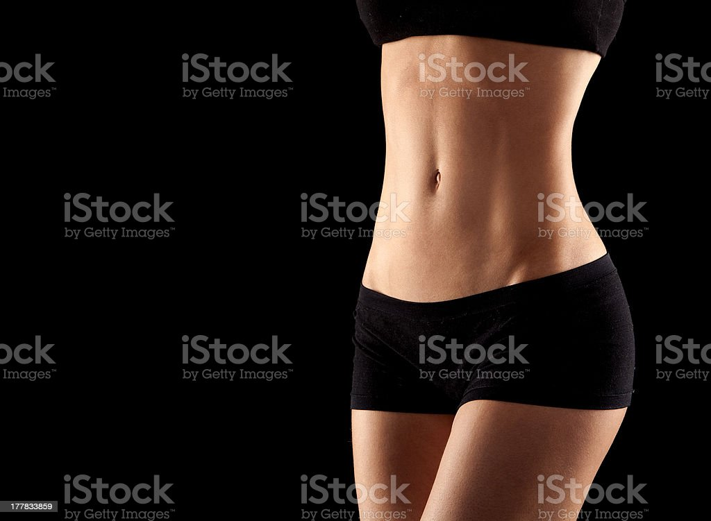 Picture of female in black underwear royalty-free stock photo