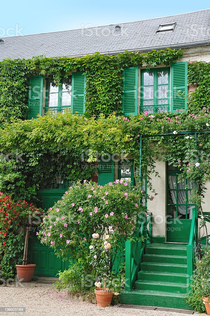 Picture of French commune named Giverny stock photo