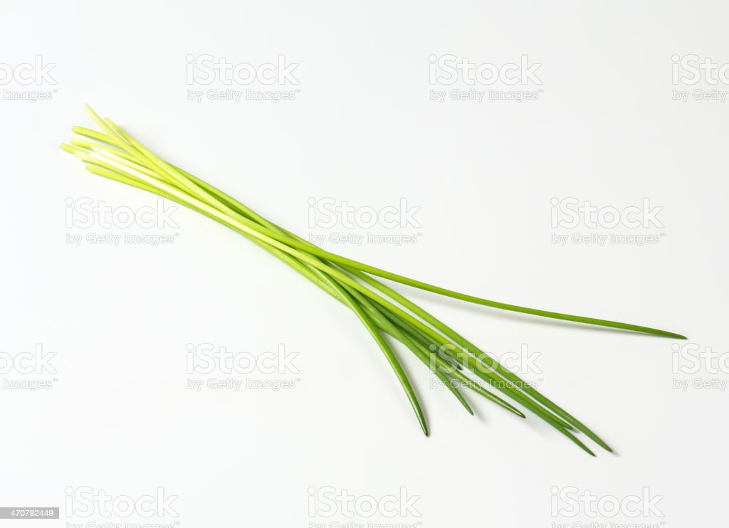 A picture of fresh green chives stock photo