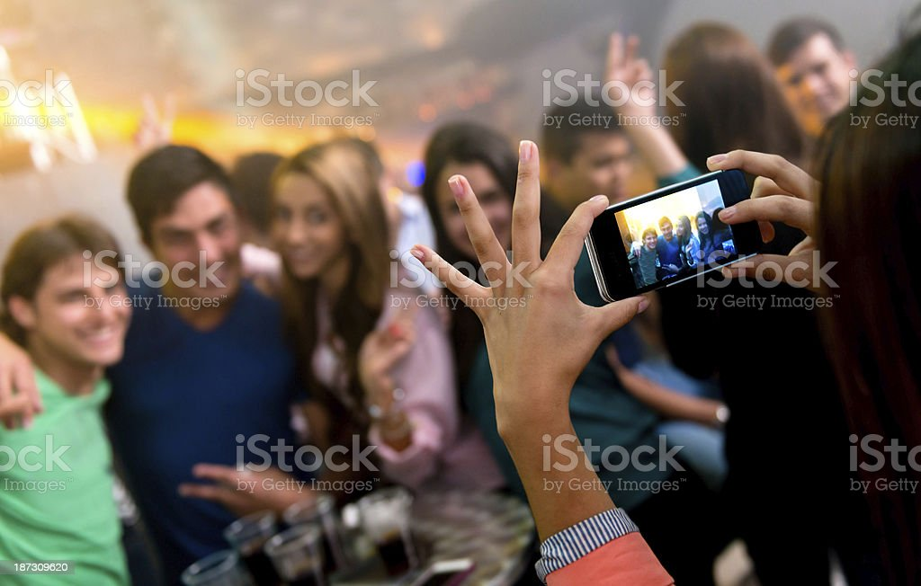 Picture of friends partying royalty-free stock photo