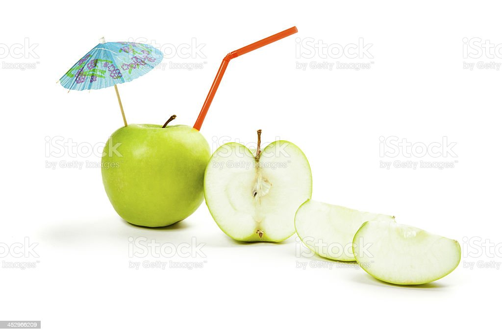 Picture of green apple isolated on white royalty-free stock photo