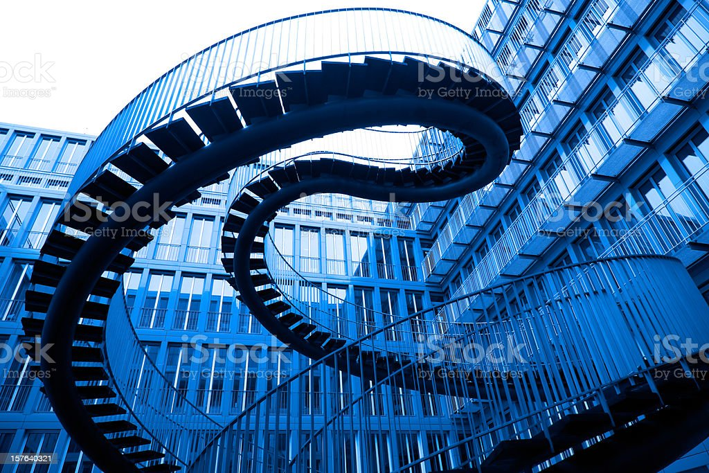 A picture of in the air stairs stock photo