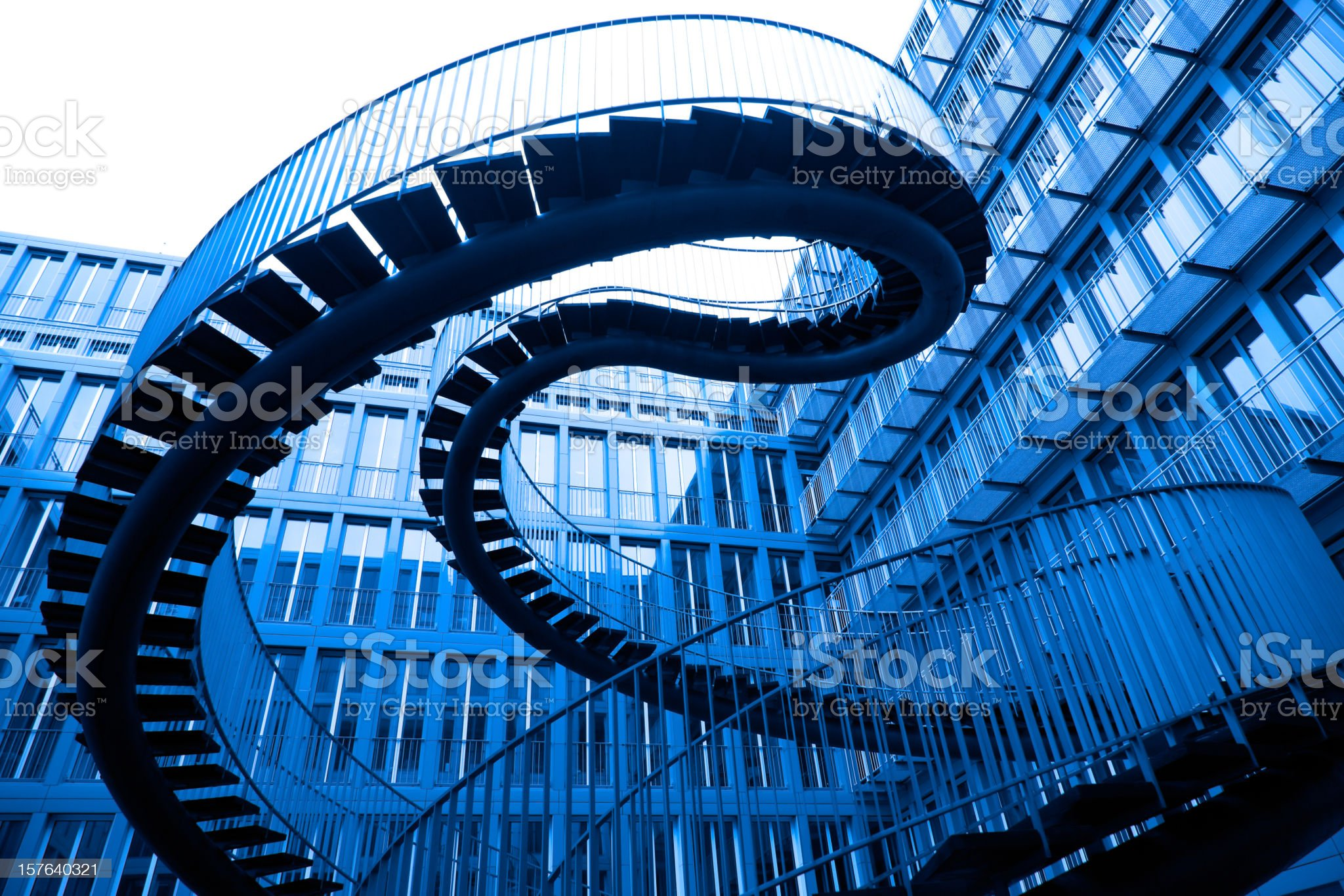 A picture of in the air stairs royalty-free stock photo