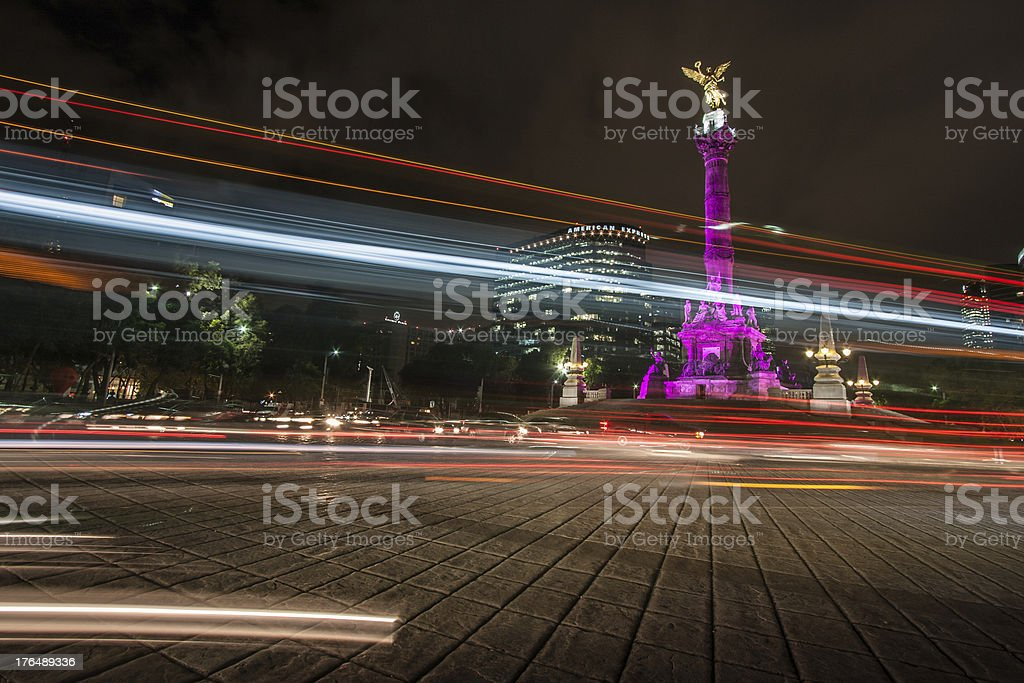 A picture of Mexico City at night stock photo