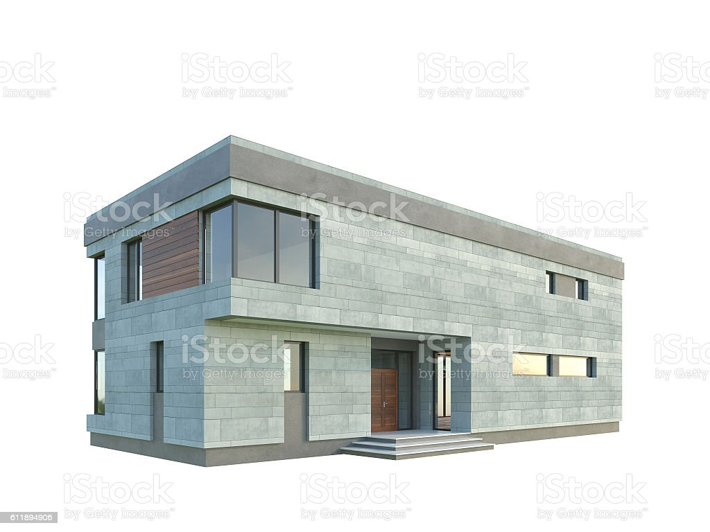 Modern Architecture Perspective picture of modern architecture isolated building 3d rendering