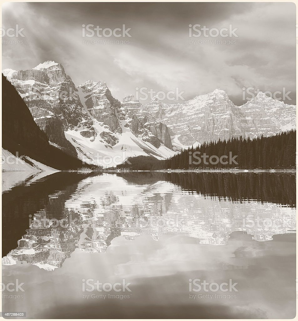 Picture of Moraine lake. royalty-free stock photo